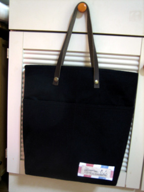 ウールフラノのバッグ