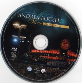 Blu-ray Andrea Bocelli Live in Tuscany Disc