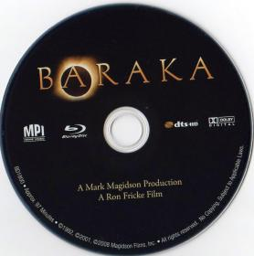 Blu-ray BARAKA Disc