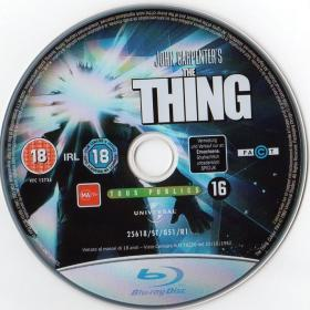 Blu-ray THE THING Disc