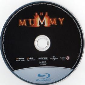 Blu-ray THE MUMMY Disc