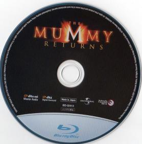 Blu-ray THE MUMMY RETURNS Disc