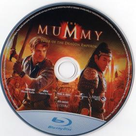 Blu-ray THE MUMMY Tomb of the Dragon Emperor Disc