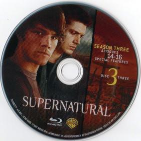 Blu-ray SUPERNATURAL The Complet 3rd Season Disc 3