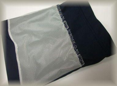 巾着裏側ネットポケット