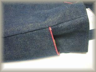 赤耳縦型サイドポケット