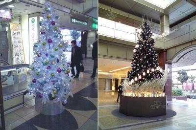二つのクリスマスツリー