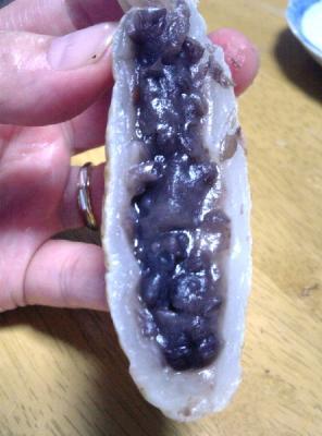白い鯛焼きの断面図