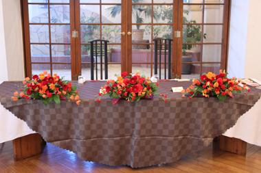 ウェディング メインテーブル