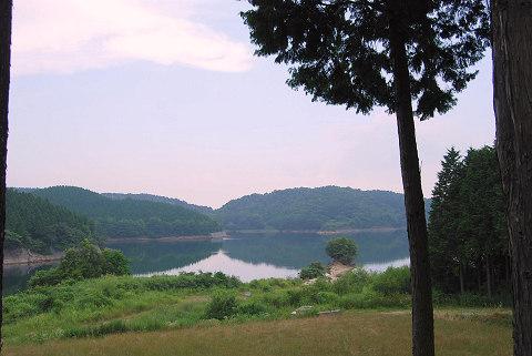 黒田ダムの貯水池