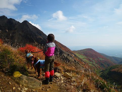 ママさん那須岳初登頂(紅葉10.10) 026