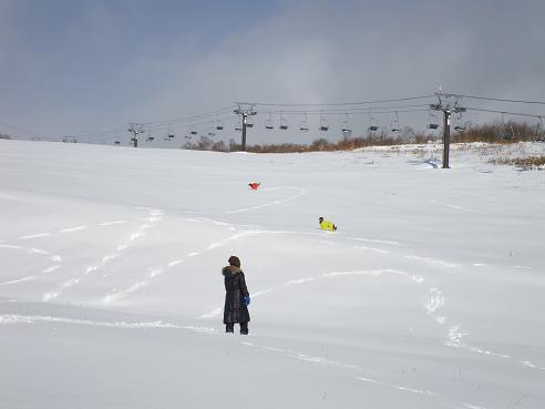 今季初の雪遊び 018