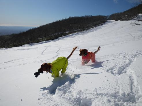 今季初の雪遊び 023