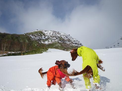 今季初の雪遊び 029