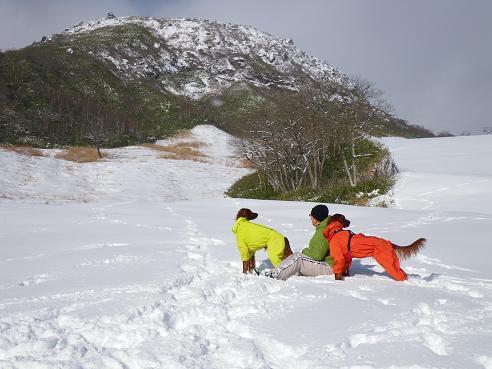 今季初の雪遊び 016