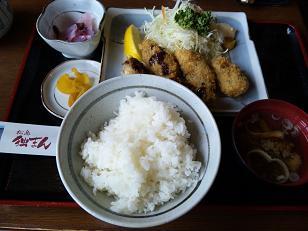 松島カキフライ定食