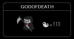 """GODOFDEATH"""