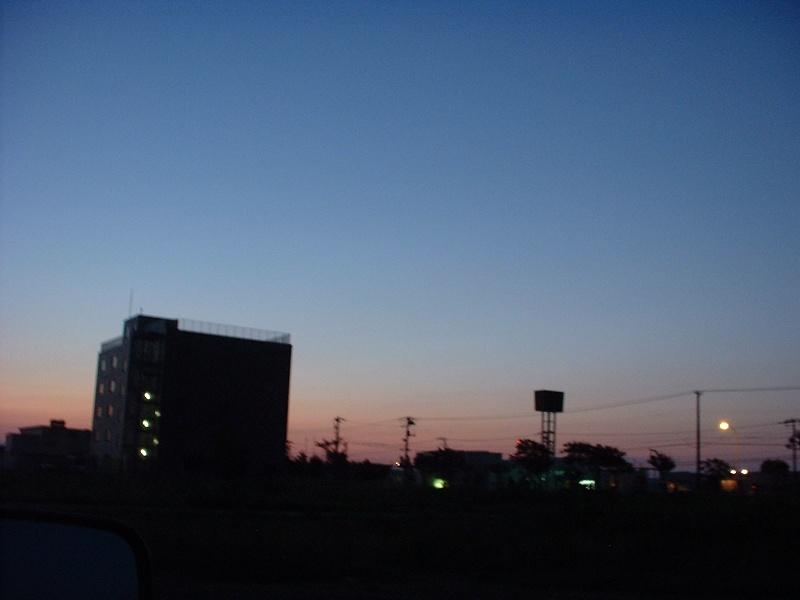 夕景・実は朝焼け…