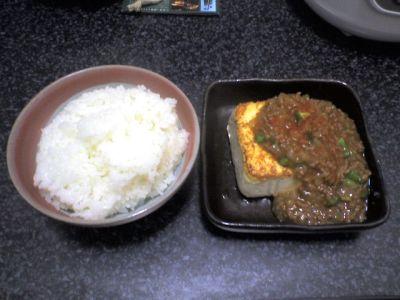 ついさっき作った、麻婆豆腐みたいな味になるはずだったもの