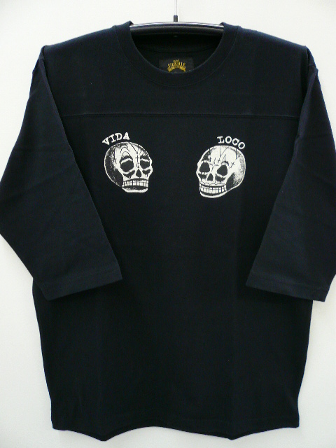 GANGSTERVILLE MEXICAN SKULL FOOTBALL TEE