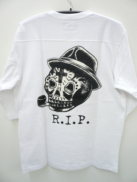 GANGSTERVILLE SUGAR SKULL FOOTBALL TEE