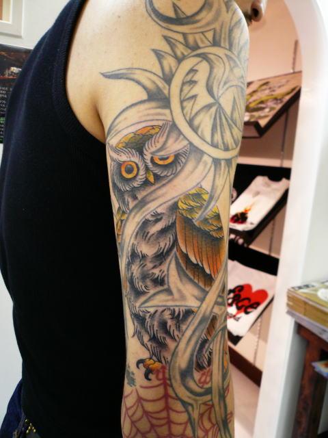TATTOO KOBAYASHI OWL DAYOFTHEDEAD