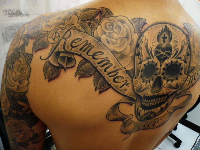 TATTOO KOBAYASHI BLACK&GRAY SUGARSKULL DAYOFTHEDEAD