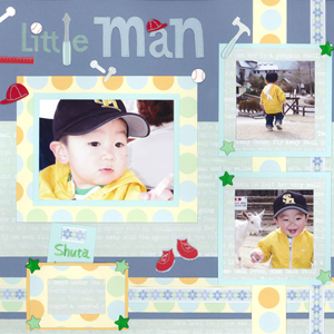 スクラップブッキングデコキット12インチ Little Man