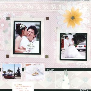 スクラップブッキングデコキット12インチ Wedding Bigday