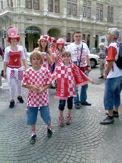 サッカーファンの人たち