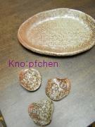余り粘土のお皿と箸置き