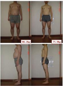 ダイエット比較写真2009年1月末
