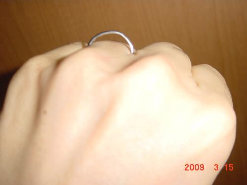 指輪の隙間