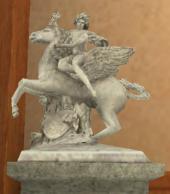 天馬にまたがるメルクリウス(前)