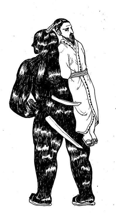侍髪 のコピー