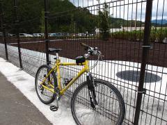新東名静岡SAに自転車で