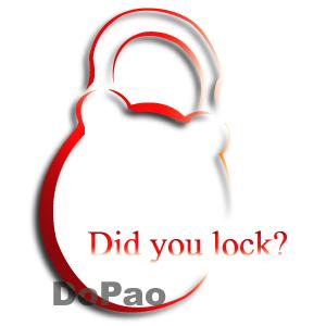 Did you lock? 鍵閉めた? オリジナルデザイン 南京錠