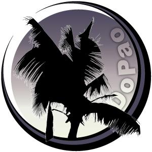 Dopao Island ヤシの木シルエット オリジナルデザイン