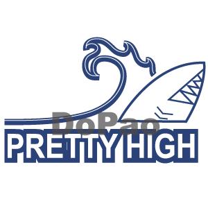 Pretty High 高波 サメ シャーク サーフィン オリジナルデザイン