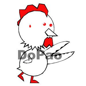 Scissors Chicken ハサミとチキン オリジナルデザイン