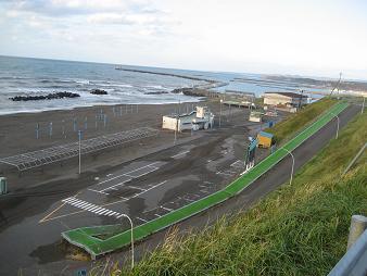 羽幌サンセットビーチを見下ろす丘