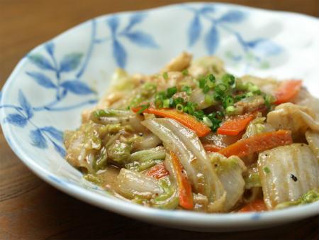 白菜のいかわた炒め06