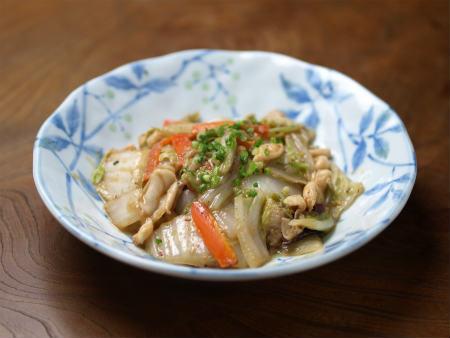 白菜のいかわた炒め03