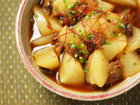大根と赤貝のピリ辛レンジ煮20