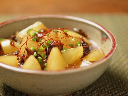 大根と赤貝のピリ辛レンジ煮15