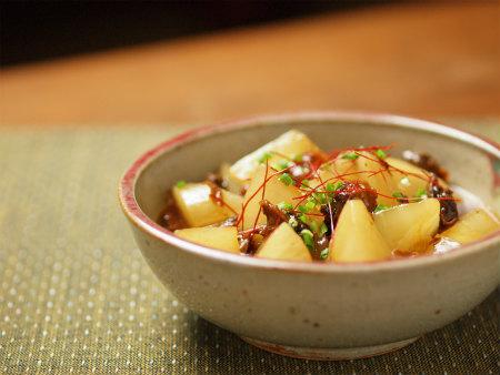 大根と赤貝のピリ辛レンジ煮16
