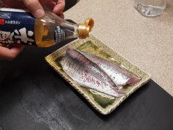 鯵刺身の韓国味噌漬け02