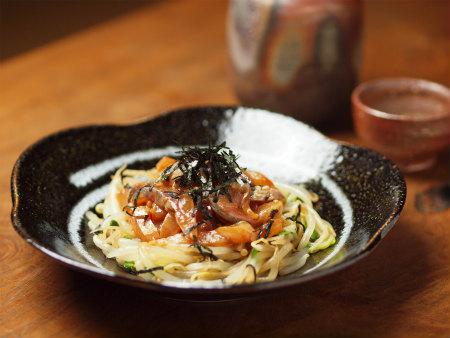 鯵刺身の韓国味噌漬け22