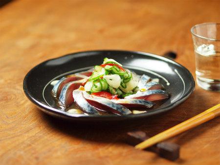 鯖刺身のポン酢サラダ16