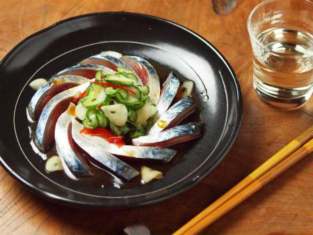 鯖刺身のポン酢サラダ17